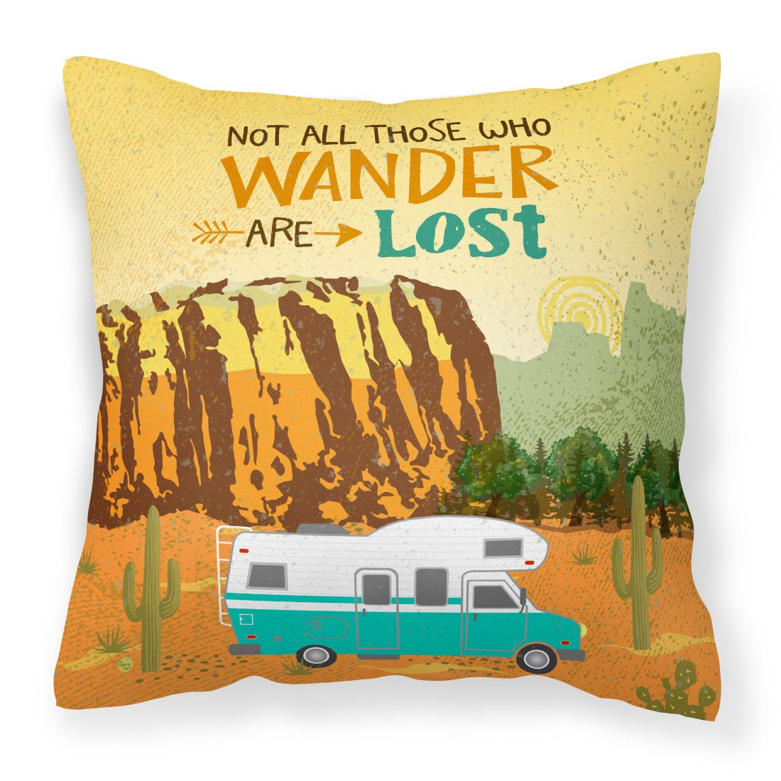 Buy this RV Camper Camping Wander Fabric Decorative Pillow VHA3027PW1818