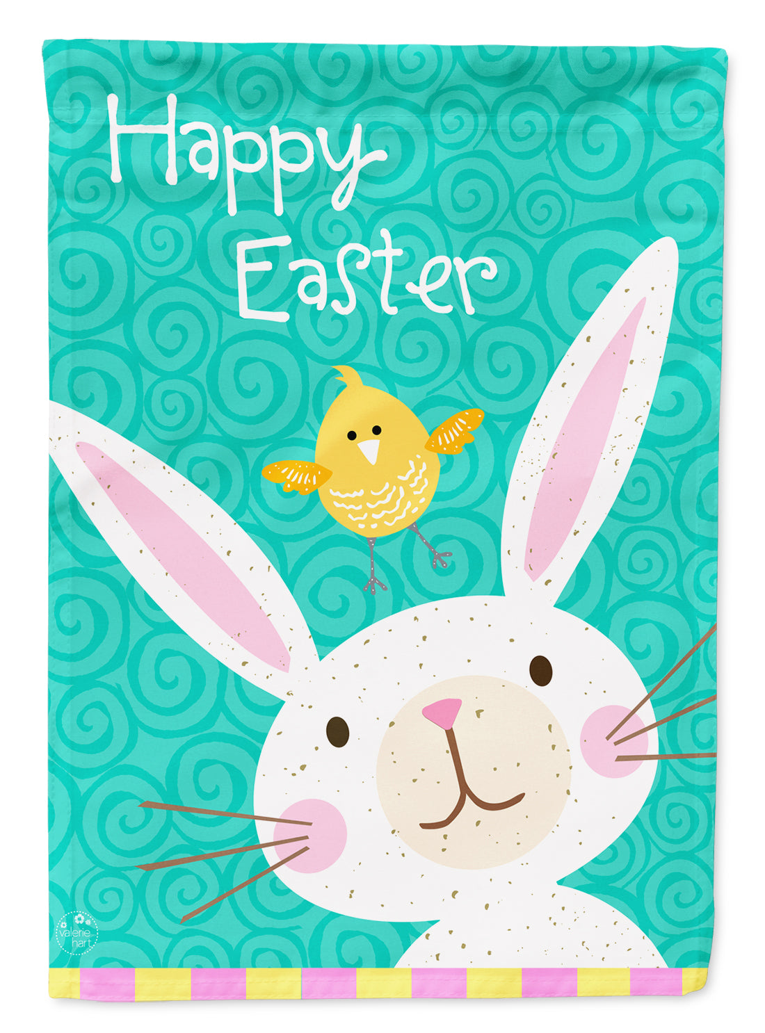 Happy Easter Rabbit Flag Canvas House Size VHA3032CHF by Caroline's Treasures