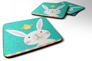 Buy this Happy Easter Rabbit Foam Coaster Set of 4 VHA3032FC