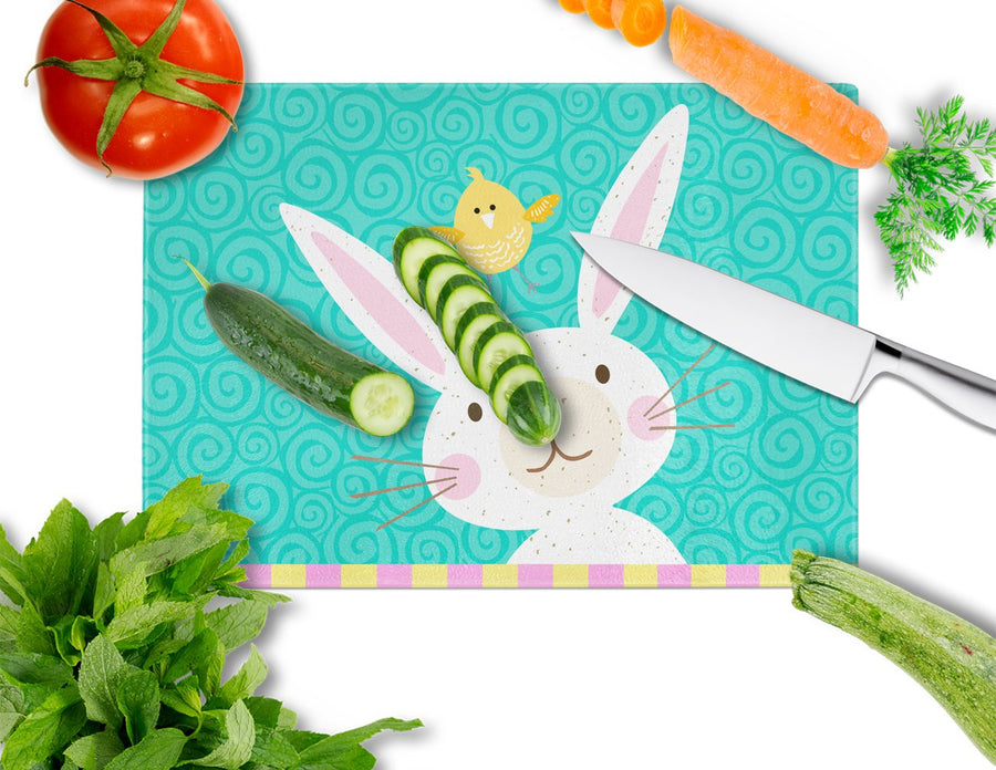 Buy this Happy Easter Rabbit Glass Cutting Board Large VHA3032LCB