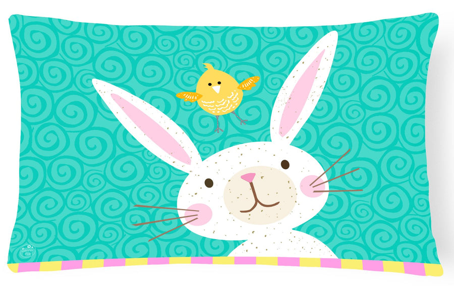 Buy this Happy Easter Rabbit Canvas Fabric Decorative Pillow VHA3032PW1216