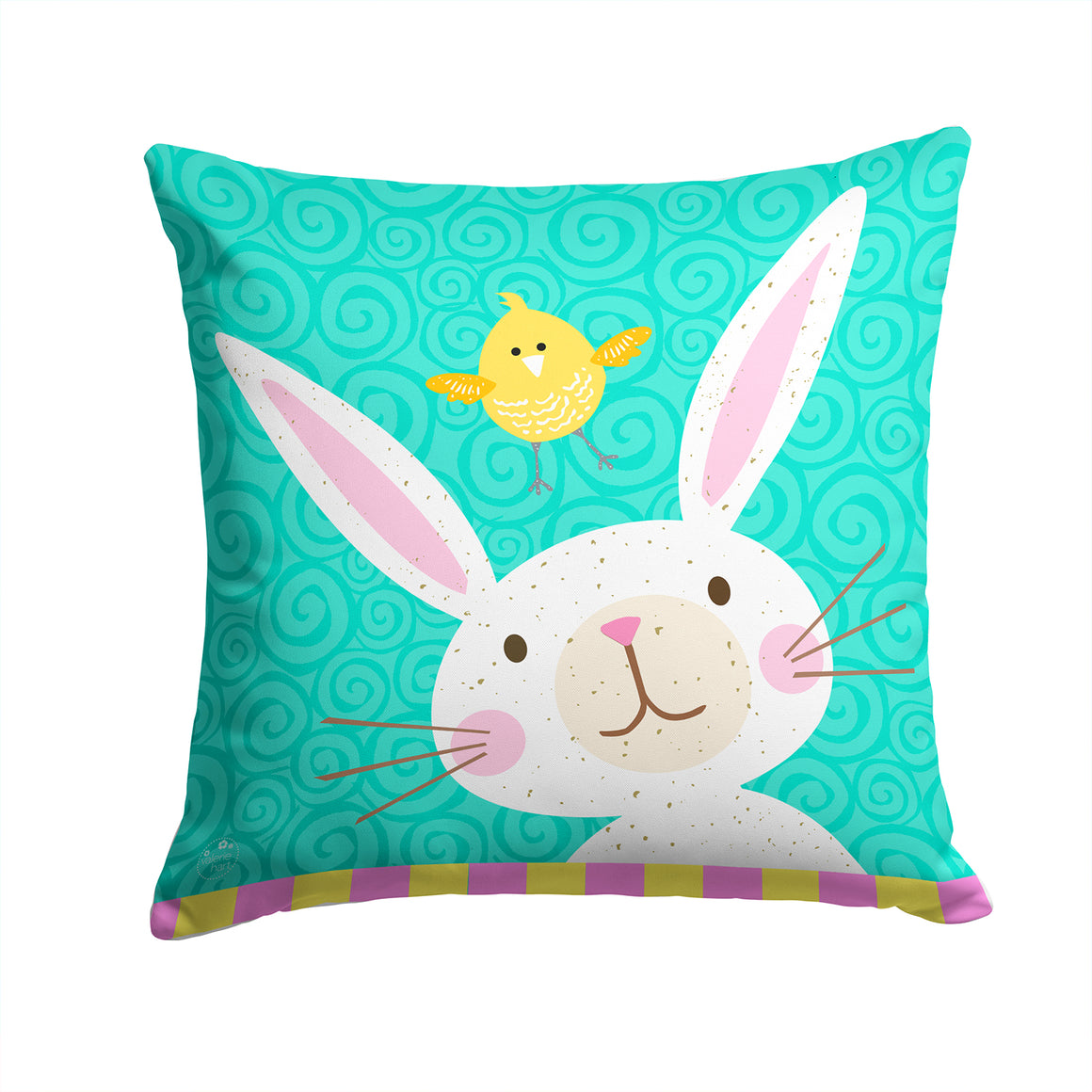 Buy this Happy Easter Rabbit Fabric Decorative Pillow VHA3032PW1414