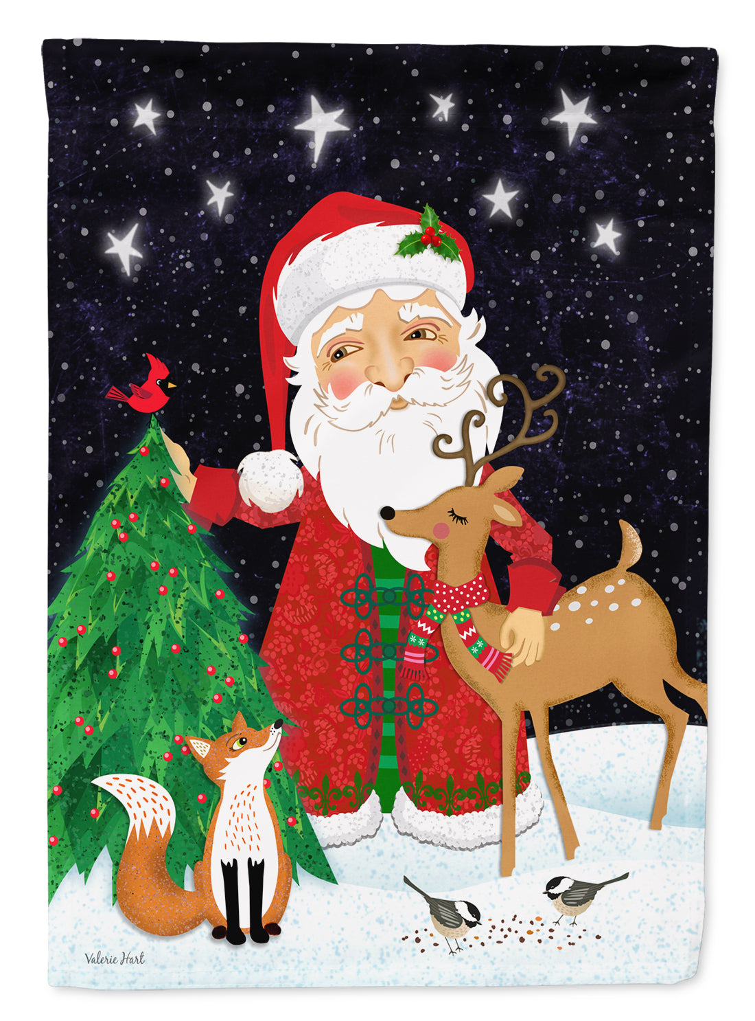 Buy this Santa Claus Christmas Flag Canvas House Size VHA3033CHF