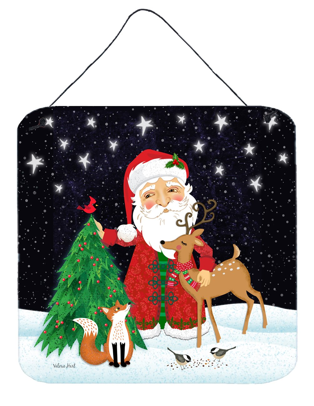 Santa Claus Christmas Wall or Door Hanging Prints by Caroline's Treasures