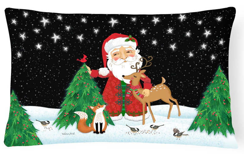 Buy this Santa Claus Christmas Canvas Fabric Decorative Pillow VHA3033PW1216