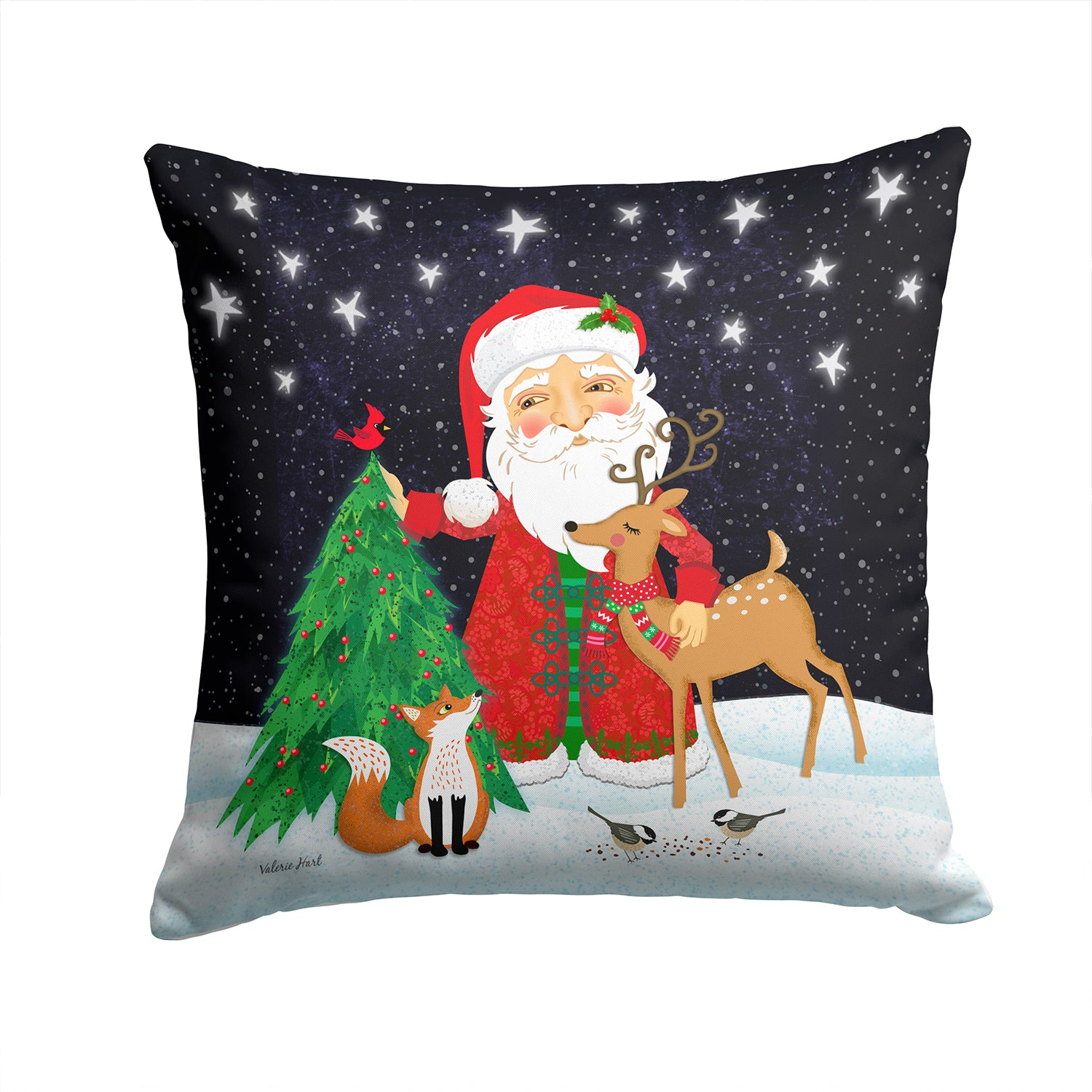 Buy this Santa Claus Christmas Fabric Decorative Pillow VHA3033PW1414