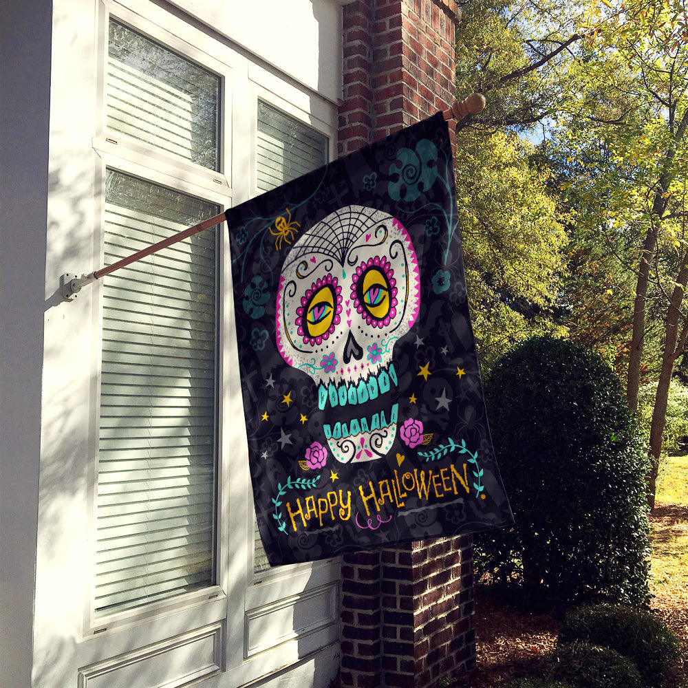 Happy Halloween Day of the Dead Flag Canvas House Size VHA3035CHF by Caroline's Treasures