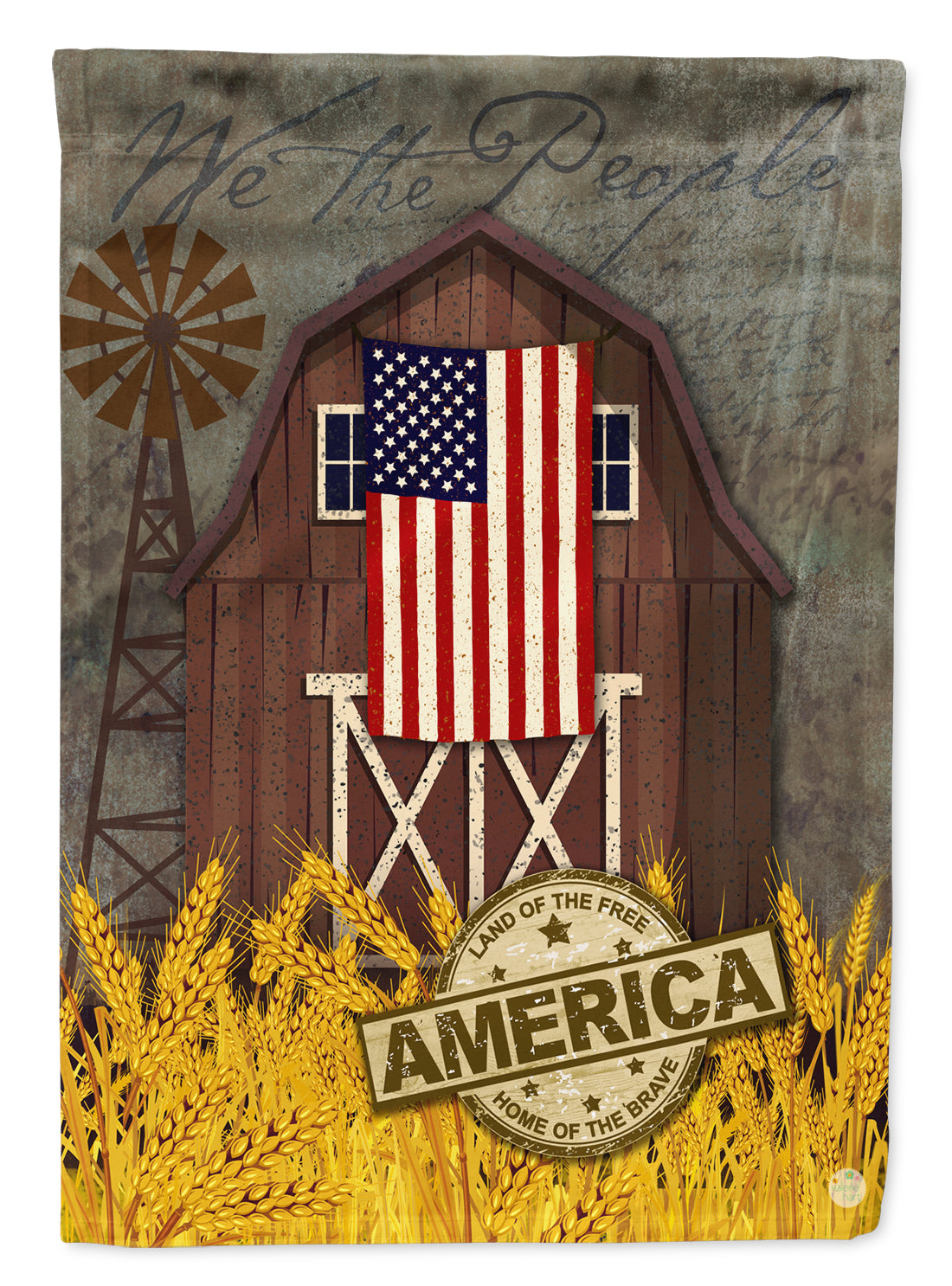 Patriotic Barn Land of America Flag Canvas House Size VHA3036CHF by Caroline's Treasures