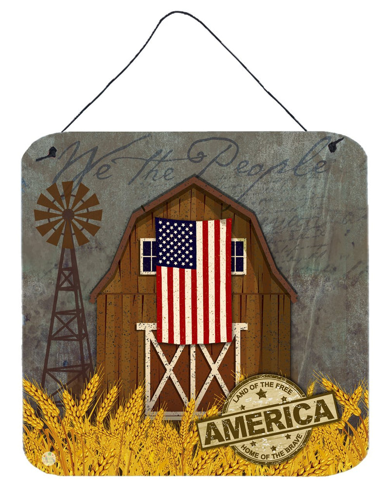 Buy this Patriotic Barn Land of America Wall or Door Hanging Prints