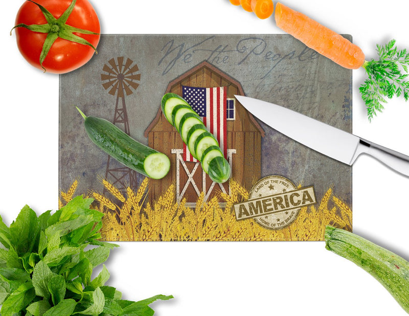 Buy this Patriotic Barn Land of America Glass Cutting Board Large VHA3036LCB