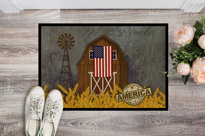 Buy this Patriotic Barn Land of America Indoor or Outdoor Mat 18x27 VHA3036MAT