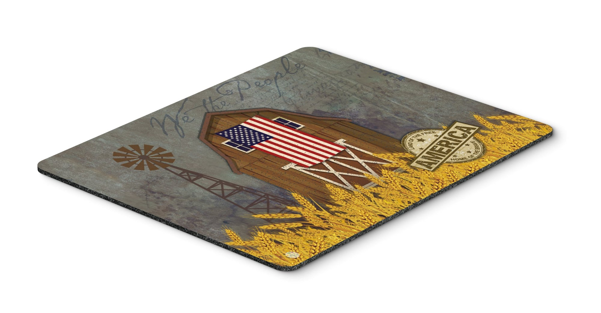 Buy this Patriotic Barn Land of America Mouse Pad, Hot Pad or Trivet VHA3036MP