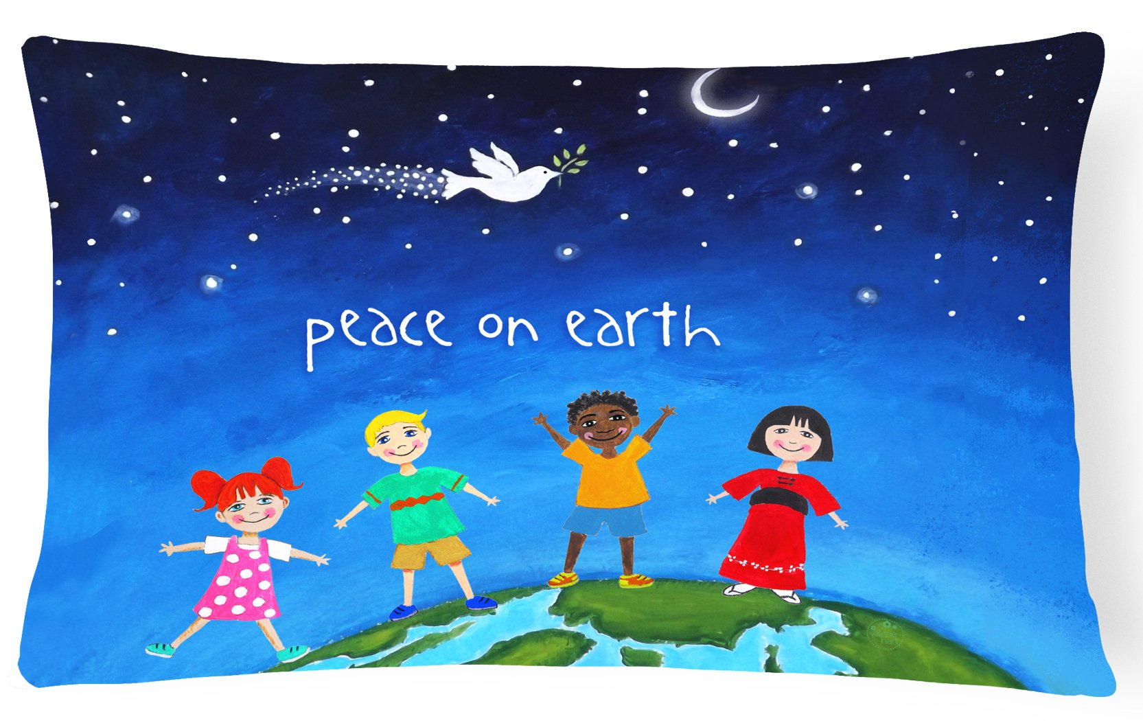 Buy this Peace on Earth Canvas Fabric Decorative Pillow VHA3039PW1216