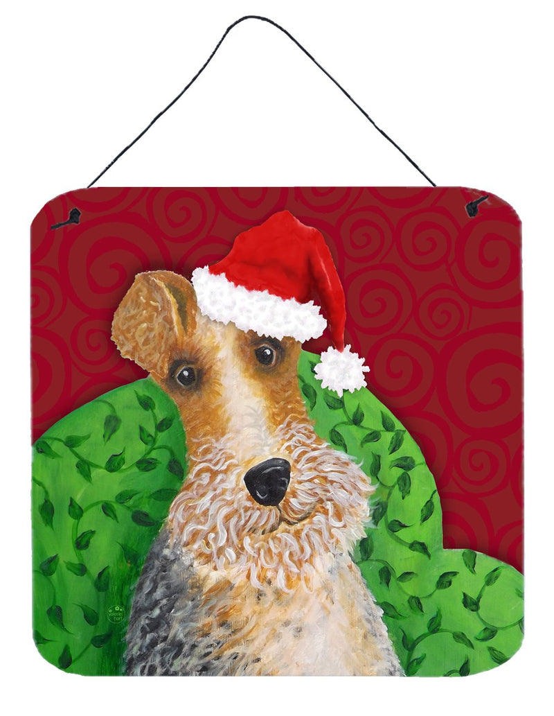 Buy this Wire Fox Terrier Christmas Wall or Door Hanging Prints