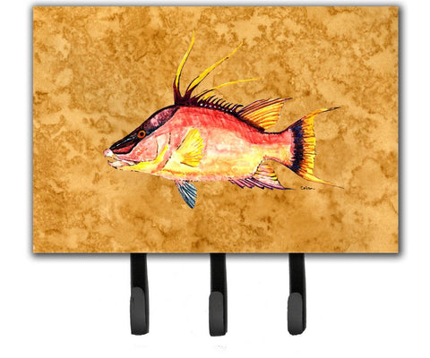 Buy this Hog Snapper on Gold Leash or Key Holder 8751TH68