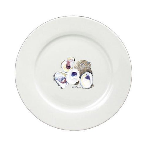 Buy this Cluster of Oysters Round Ceramic White Salad Plate 8747-DPW