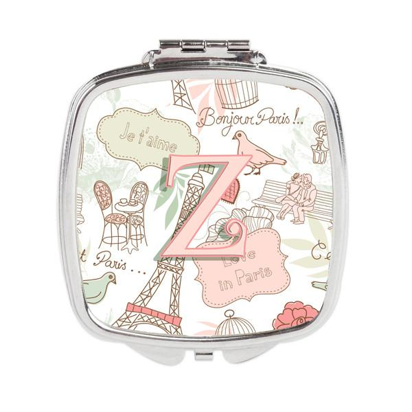 Buy this Letter Z Love in Paris Pink Compact Mirror CJ2002-ZSCM