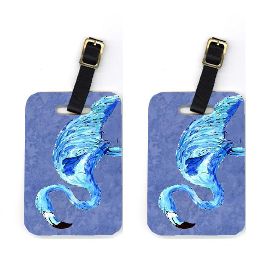 Buy this Pair of Flamingo On Slate Blue Luggage Tags