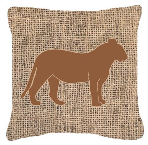 Buy this Tiger Burlap and Brown   Canvas Fabric Decorative Pillow BB1010
