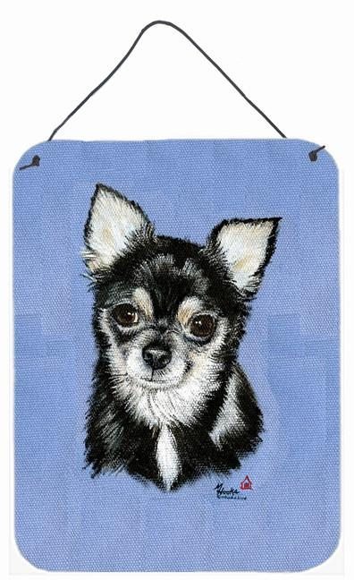 Chihuahua in blue Wall or Door Hanging Prints MH1016DS1216 by Caroline's Treasures