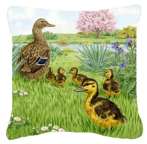 Buy this Mallard and Ducklings by Sarah Adams Canvas Decorative Pillow ASAD0693PW1414