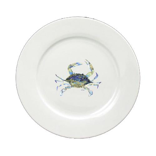 Buy this Blue Crab Round Ceramic White Salad Plate 8656-DPW