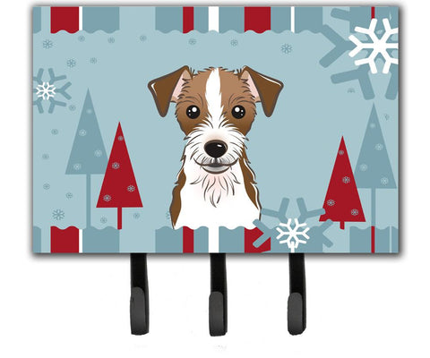 Buy this Winter Holiday Jack Russell Terrier Leash or Key Holder BB1698TH68