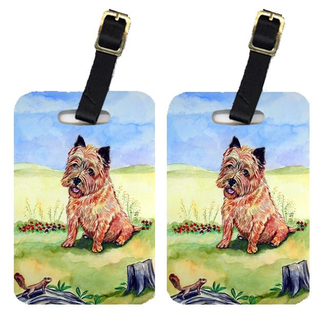 Pair of 2 Cairn Terrier and the chipmunk Luggage Tags by Caroline's Treasures
