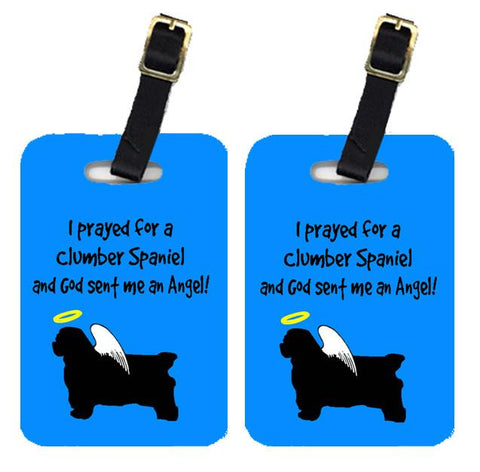 Buy this Pair of 2 Clumber Spaniel Luggage Tags
