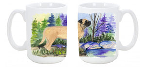 Buy this Mastiff Dishwasher Safe Microwavable Ceramic Coffee Mug 15 ounce SS8009CM15