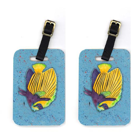 Buy this Pair of Tropical Fish on Blue Luggage Tags