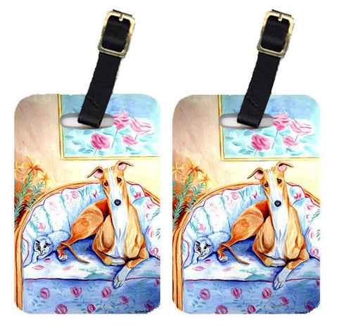 Buy this Pair of 2 Whippet waiting on Mom Luggage Tags