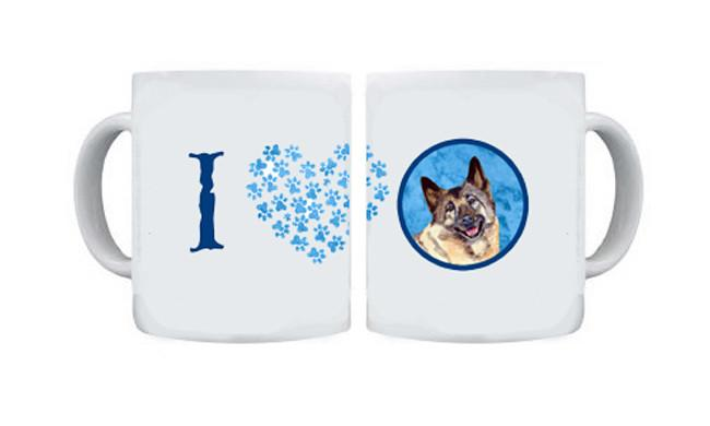 Norwegian Elkhound  Dishwasher Safe Microwavable Ceramic Coffee Mug 15 ounce by Caroline's Treasures