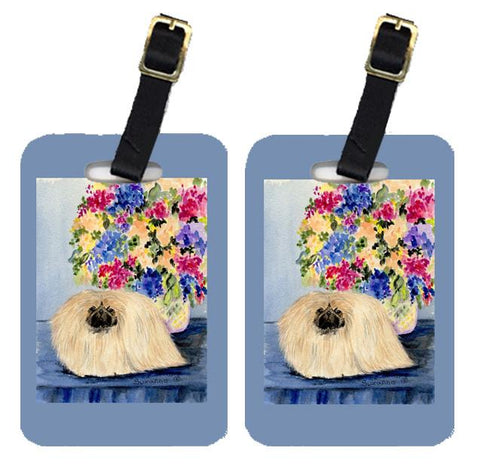Buy this Pair of 2 Pekingese Luggage Tags