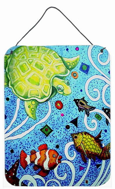 Turtle Time Turtle Wall or Door Hanging Prints PJC1043DS1216 by Caroline's Treasures