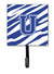 Buy this Letter U Initial Tiger Stripe Blue and White Leash Holder or Key Hook