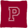 Buy this Monogram Initial P Maroon and White Decorative   Canvas Fabric Pillow CJ1032