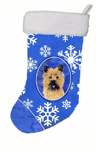 Buy this Cairn Terrier Winter Snowflakes Christmas Stocking SC9375