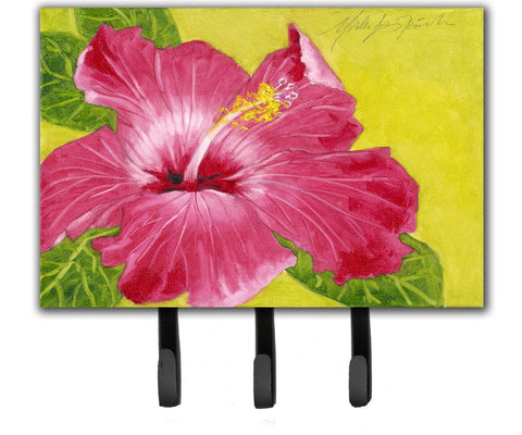 Buy this Hot Pink Hibiscus by Malenda Trick Leash or Key Holder TMTR0317TH68