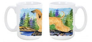 Buy this Afghan Hound Dishwasher Safe Microwavable Ceramic Coffee Mug 15 ounce SS8220CM15
