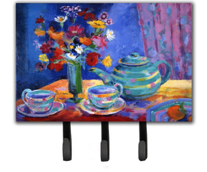 Buy this Blue Tea by Wendy Hoile Leash or Key Holder HWH0010TH68
