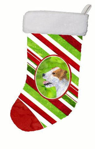 Buy this Jack Russell Terrier Winter Snowflakes Christmas Stocking SS4573