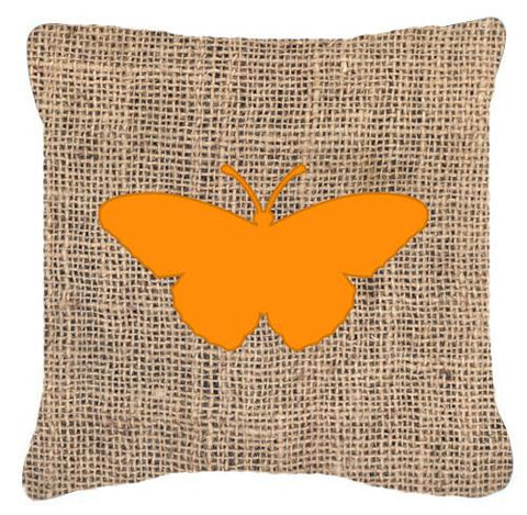 Buy this Butterfly Burlap and Orange   Canvas Fabric Decorative Pillow BB1050