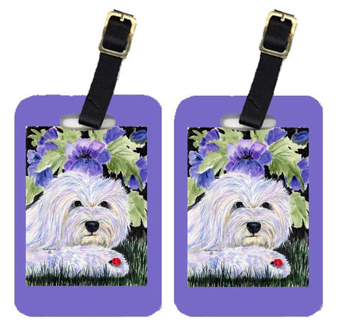 Buy this Pair of 2 Coton de Tulear Luggage Tags