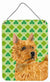 Buy this Norwich Terrier St. Patrick's Day Shamrock Portrait Wall or Door Hanging Prints