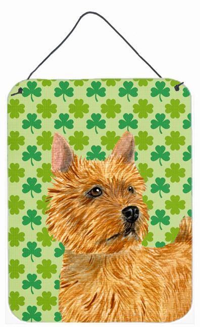 Norwich Terrier St. Patrick's Day Shamrock Portrait Wall or Door Hanging Prints by Caroline's Treasures