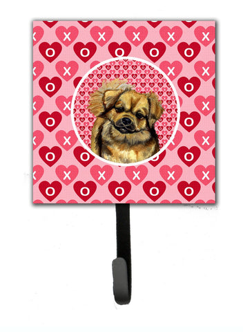Buy this Tibetan Spaniel Valentine's Love and Hearts Leash or Key Holder