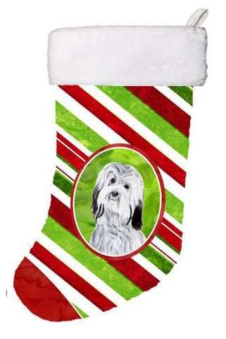 Buy this Havanese Candy Cane Christmas Christmas Stocking SC9809-CS