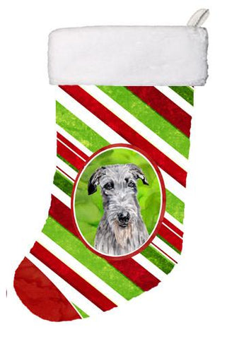 Buy this Scottish Deerhound Candy Cane Christmas Christmas Stocking SC9802-CS