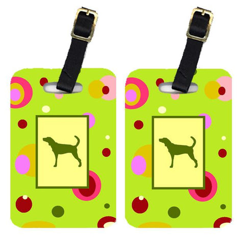 Buy this Pair of 2 Plott Hound Luggage Tags